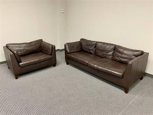 $850 : Real leather couches image 2