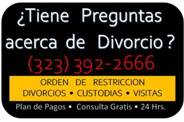 DIVORCIOS►RAPIDOS en Los Angeles