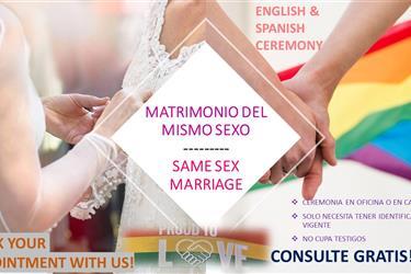 MATRIMONIO DEL MISMO SEXO en Los Angeles County
