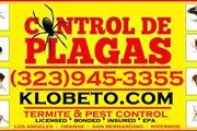 FUMIGACIONES (323)945-3355 LIC en Los Angeles County